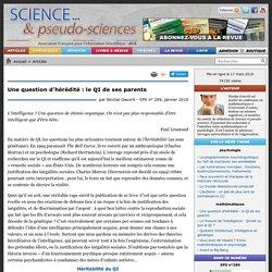 Une question d'hérédité : le QI de ses parents