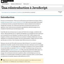 Une réintroduction à JavaScript - MDC