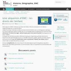 Une séquence d'EMC : les droits de l'enfant