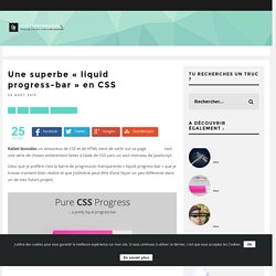 "Une superbe ""liquid progress-bar"" en CSS"
