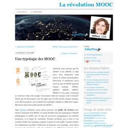 Une typologie des MOOC