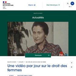 Une vidéo par jour sur le droit des femmes