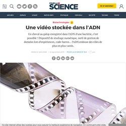 Une vidéo stockée dans l'ADN