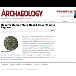 Massive Roman Coin Hoard Unearthed in England