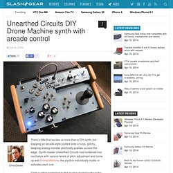DIY Drone Machine synth with arcade control