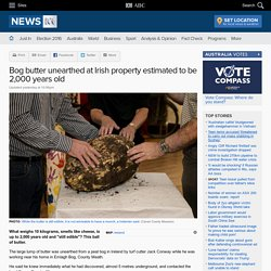 Bog butter unearthed at Irish property estimated to be 2,000 years old
