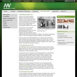 Unearthing Little Lon: Museum Victoria