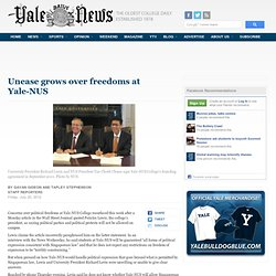 YaledailyNews: Unease grows over freedoms at Yale-NUS