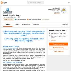 Uneek Security Doors - Cameron Park, New South Wales - hipages.com.au