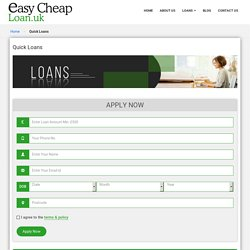 Quick Loans for Unemployed People on Benefits