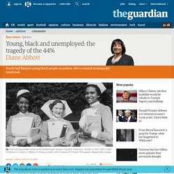 Young, black and unemployed: the tragedy of the 44%
