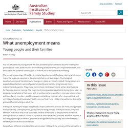 Family Matters - Issue 33 - What unemployment means