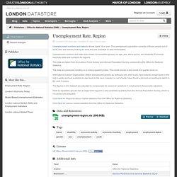 Unemployment Rate, Region - Datasets - London DataStore