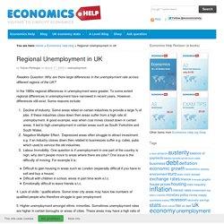 Regional Unemployment in UK