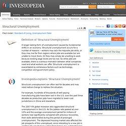 Structural Unemployment Definition
