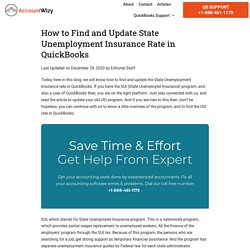 State Unemployment Insurance Rate in QuickBooks (Find & Update)