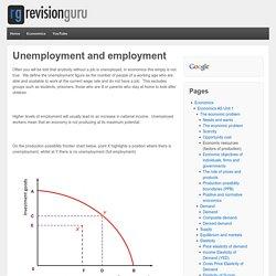 Unemployment and employment - Revisionguru