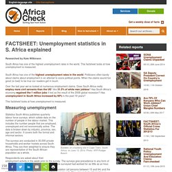 FACTSHEET: Unemployment statistics in S. Africa explained