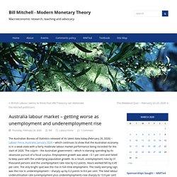Australia labour market – getting worse as unemployment and underemployment rise – Bill Mitchell