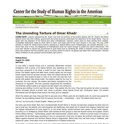 The Unending Torture of Omar Khadr