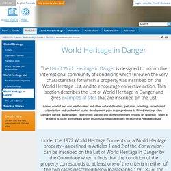 World Heritage Centre - World Heritage in Danger