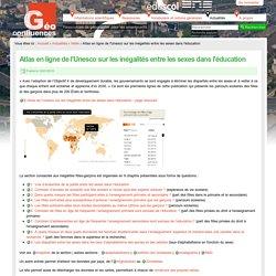 Atlas en ligne de l'Unesco sur les inégalités entre les sexes dans l'éducation