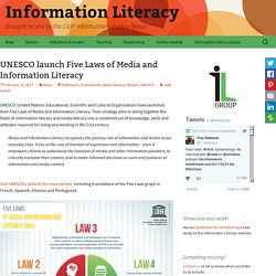 UNESCO launch Five Laws of Media and Information Literacy