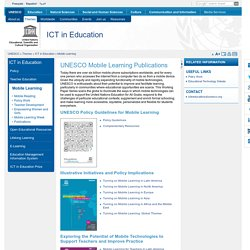 UNESCO Mobile Learning Publications