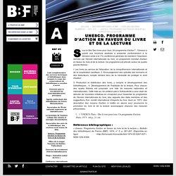 Unesco. Programme d'action en faveur du livre et de la lecture