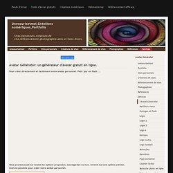 Créations numériques,Portfolio, generateur avatar en ligne gratuit