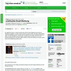 unetrlaubte Email-Werbung Medienrecht