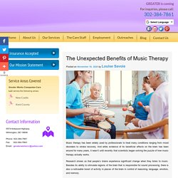 The Unexpected Benefits of Music Therapy