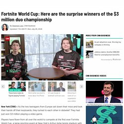 Fortnite World Cup: unexpected winners of the duo championship