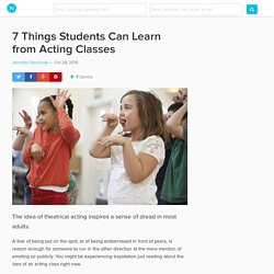 7 Unexpected Ways Acting Class Has Educational Benefits