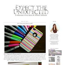 DIY: Tribal print iPhone case ✪