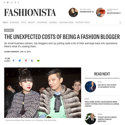 The Unexpected Costs of Being a Fashion Blogger