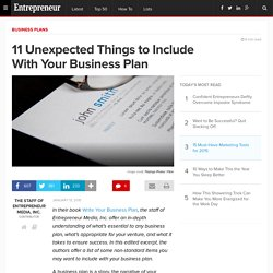 11 Unexpected Things to Include With Your Business Plan