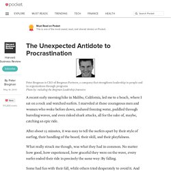 The Unexpected Antidote to Procrastination - Harvard Business Review - Pocket