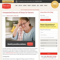 4 Unexpected Sources of Stress Affecting Senior Adults