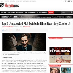 Top 5 Unexpected Plot Twists In Films (Warning: Spoilers!)