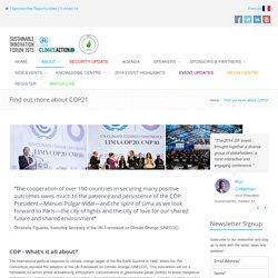 UNFCCC COP 21 Paris France - 2015 Paris Climate Conference