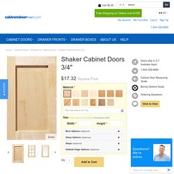 Unfinished Cabinet Doors - Shaker