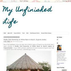 My Unfinished Life: Hodko Zeel Homestay at White Rann in Kutch, Gujarat (India)