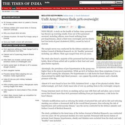 Unfit Army? Survey finds 30% overweight - The Times of India