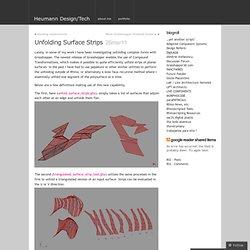 Unfolding Surface Strips « Heumann Design/Tech