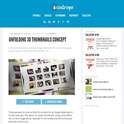 Unfolding 3D Thumbnails Concept