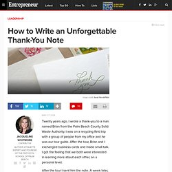 How to Write an Unforgettable Thank-You Note
