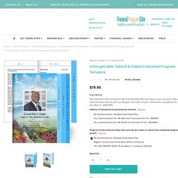 Unforgettable Tabloid 8-Sided Graduated Program Template