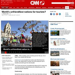 World's unfriendliest nations for tourists?