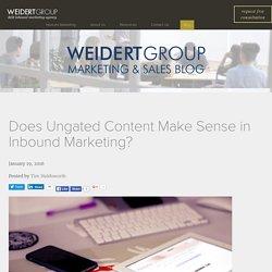 Does Ungated Content Make Sense in Inbound Marketing?